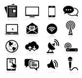 Inzameling van media pictogrammen Stock Afbeelding