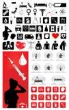 Inzameling van medische pictogrammen Stock Foto's