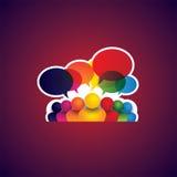 Inzameling van mensenpictogrammen van leiding, vriendschap - mede vector Royalty-vrije Stock Afbeeldingen