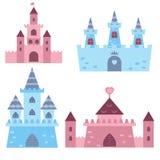 Inzameling van middeleeuwse kastelen Stock Fotografie