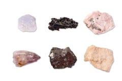 Inzameling van mineralen royalty-vrije stock afbeeldingen