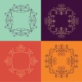 Inzameling van monogram vier Royalty-vrije Illustratie