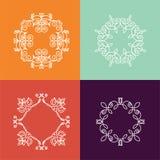 Inzameling van monogram vier Vector Illustratie