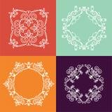 Inzameling van monogram vier Royalty-vrije Stock Afbeelding