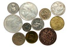 Inzameling van muntstukken Stock Foto's