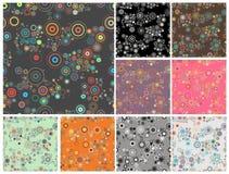 Inzameling van naadloze kleurrijke abstracte achtergronden vector illustratie