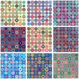 Inzameling van naadloze kleurrijke abstracte achtergronden met fract stock illustratie