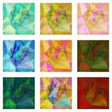 Inzameling van naadloze kleurrijke achtergronden stock illustratie