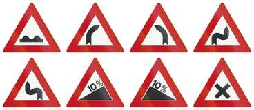 Inzameling van Nederlandse waarschuwingsverkeersteken royalty-vrije illustratie