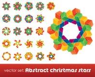 Inzameling van onmogelijke Kerstmissneeuwvlokken. Royalty-vrije Stock Afbeelding