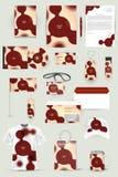 Inzameling van ontwerpelementen voor collectieve identiteitszaken, reclame of visualisatie Stock Foto