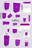 Inzameling van ontwerpelementen voor collectieve identiteitszaken, reclame of visualisatie Stock Fotografie