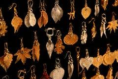 Inzameling van oorringen Stock Afbeeldingen