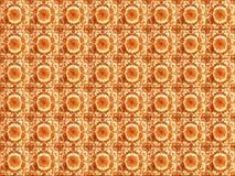 Inzameling van oranje patronentegels stock fotografie