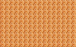Inzameling van oranje patronentegels royalty-vrije stock afbeelding