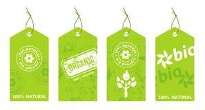Inzameling van organische etiketten Royalty-vrije Stock Afbeeldingen