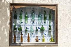 Inzameling van oude glasflessen Royalty-vrije Stock Fotografie