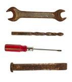Inzameling van oude hulpmiddelen royalty-vrije stock afbeeldingen