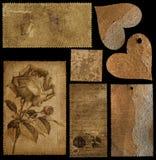 Inzameling van oude zegels Stock Fotografie