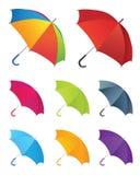 Inzameling van paraplu's stock illustratie