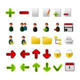 Inzameling van pictogrammen voor toepassingen Stock Foto