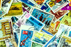 Inzameling van postzegels de USSR Stock Foto's