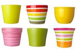 Inzameling van potten Stock Foto