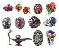 Inzameling van ringen. Stock Fotografie