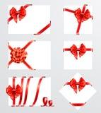 Inzameling van rode bogen Stock Fotografie