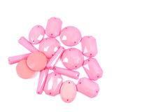 Inzameling van Roze Parel Stock Afbeelding