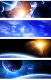 Inzameling van ruimtebanners Stock Foto's
