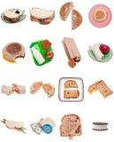 Inzameling van Sandwiches Royalty-vrije Stock Afbeelding