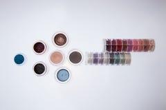 Inzameling van schoonheidsmiddelen voor grimeur Stock Afbeelding
