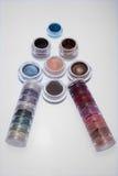 Inzameling van schoonheidsmiddelen voor grimeur Stock Fotografie