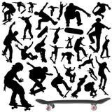 Inzameling van skateboardvector Royalty-vrije Stock Fotografie