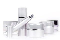 Inzameling van skincare spa producten Stock Fotografie