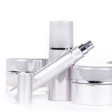 Inzameling van skincare spa producten Stock Afbeelding