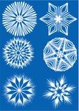 Inzameling van sneeuwvlokken Stock Fotografie