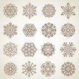 Inzameling van sneeuwvlokken Royalty-vrije Stock Afbeeldingen