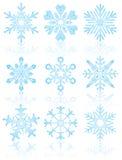 Inzameling van sneeuwvlokken, vector royalty-vrije illustratie