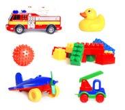 Inzameling van speelgoed stock afbeelding
