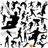 Inzameling van sportenvector stock illustratie