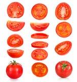 Inzameling van stukken tomaten royalty-vrije stock afbeelding