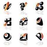 Inzameling van symbolen stock illustratie