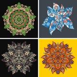 Inzameling van symmetrische etnische ornamenten Stock Foto