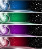 Inzameling van technologische banners Stock Foto's