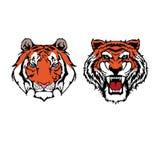 Inzameling van tijgerpictogrammen in de stijl van de pixelkunst royalty-vrije illustratie