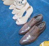 Inzameling van toevallige schoenen Royalty-vrije Stock Foto's