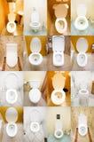 Inzameling van toiletten Royalty-vrije Stock Foto's