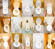 Inzameling van toiletten Royalty-vrije Stock Afbeeldingen
